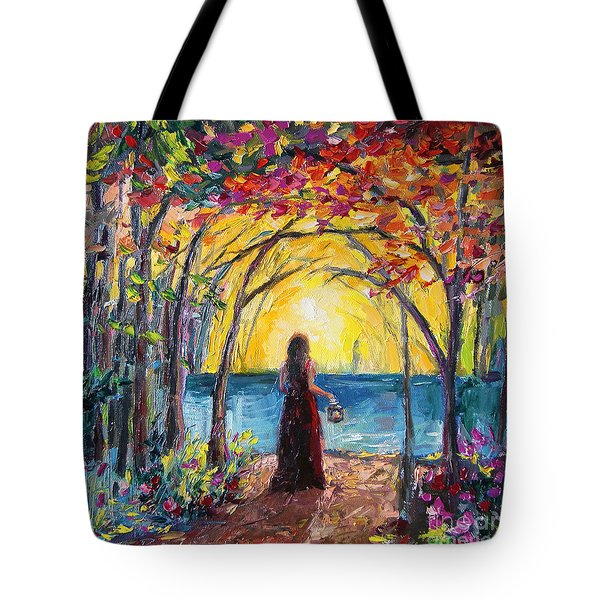Tote Bag featuring the painting Enchanted by Jennifer Beaudet