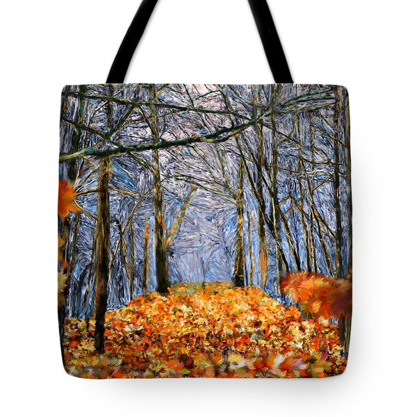 End Of Autumn Tote Bag by Bruce Nutting