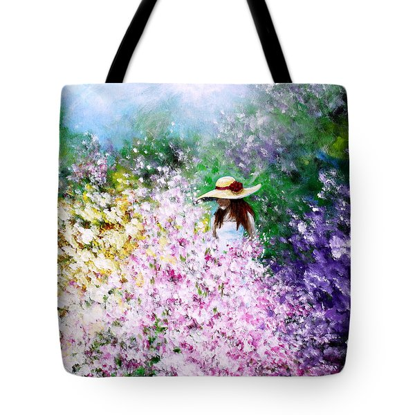 Tote Bag featuring the painting End Of May by Kume Bryant