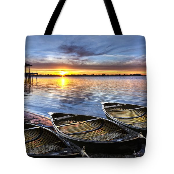 End Of The Day Tote Bag by Debra and Dave Vanderlaan