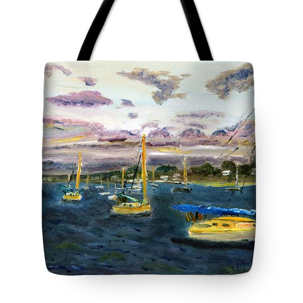 End Of The Day On Cape Cod Bay Tote Bag
