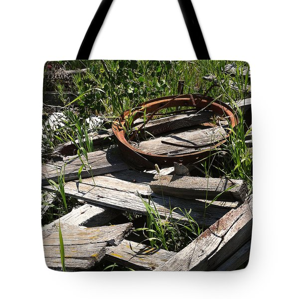 Tote Bag featuring the photograph End Of The Line by Meghan at FireBonnet Art