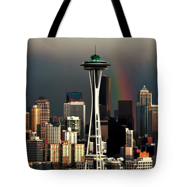End Of The Rainbow Tote Bag by Benjamin Yeager