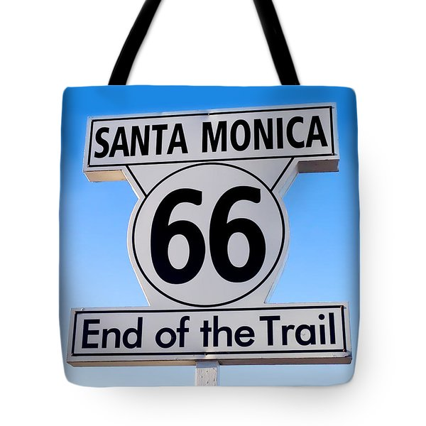 Tote Bag featuring the photograph End Of The Trail by Art Block Collections