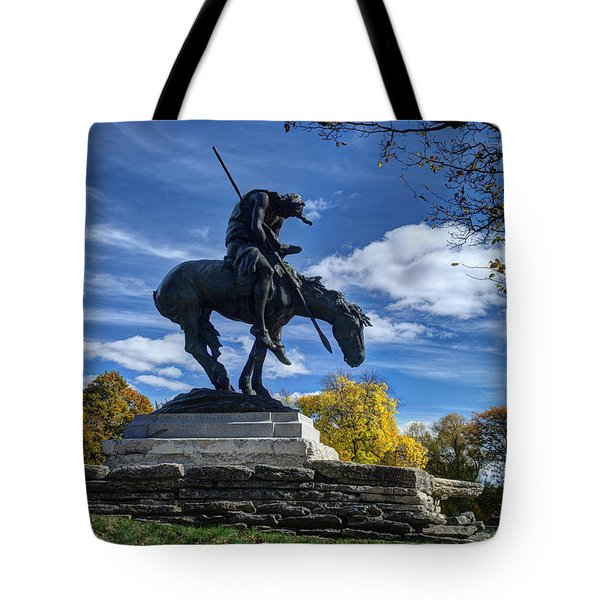 End Of The Trail - Fall No. 1 Tote Bag by Janice Adomeit