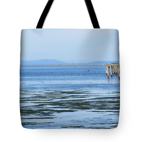 End Of The World In Blue Tote Bag