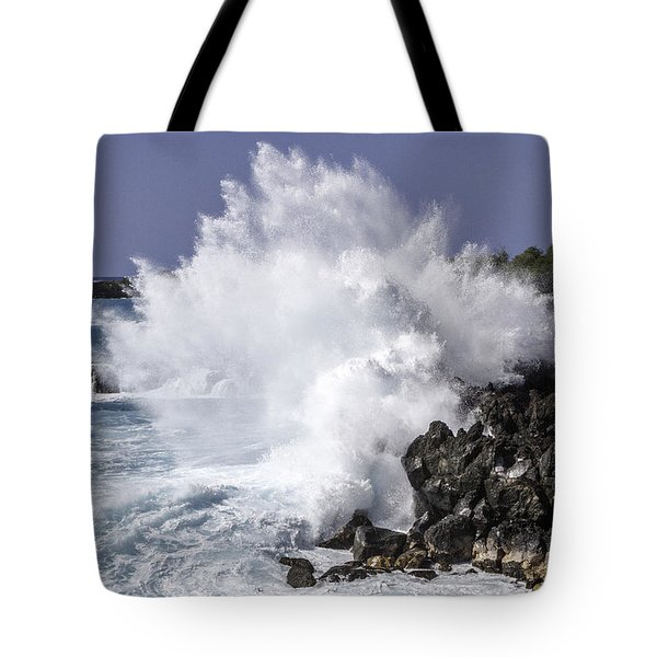 End Of The World Explosion Tote Bag by Denise Bird
