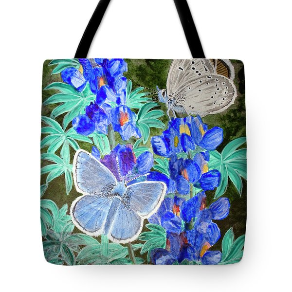 Endangered Mission Blue Butterfly Tote Bag by Mike Robles