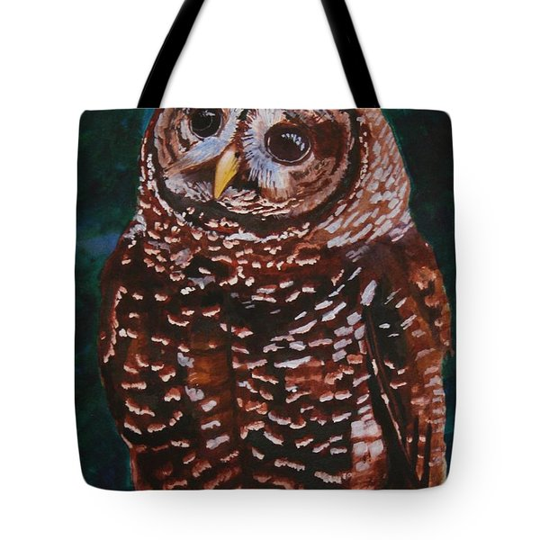 Endangered - Spotted Owl Tote Bag by Mike Robles