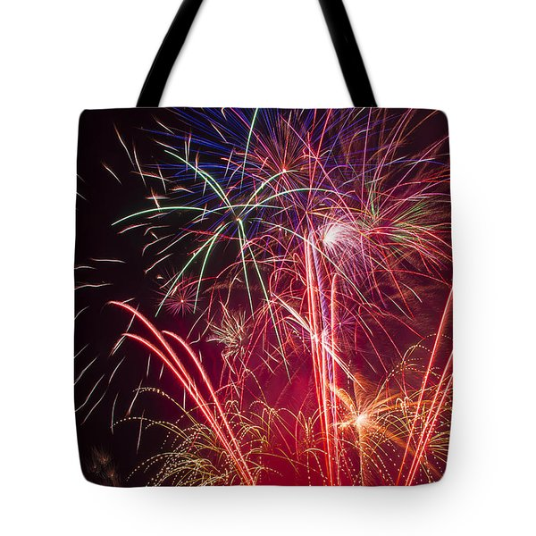 Endless Fireworks Tote Bag by Garry Gay