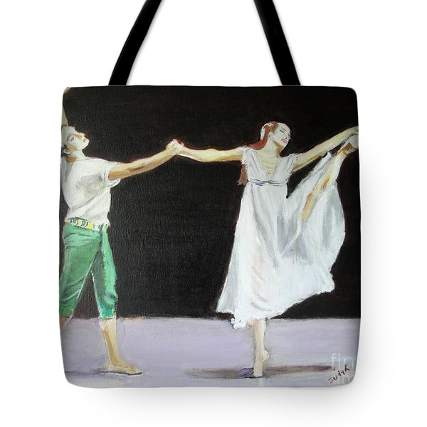 Tote Bag featuring the painting Endless Love by Judy Kay