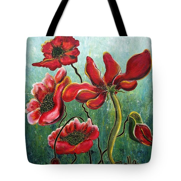 Endless Poppy Love Tote Bag