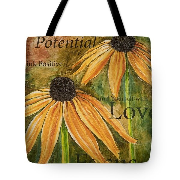 Tote Bag featuring the painting Endless Potential by Lisa Fiedler Jaworski