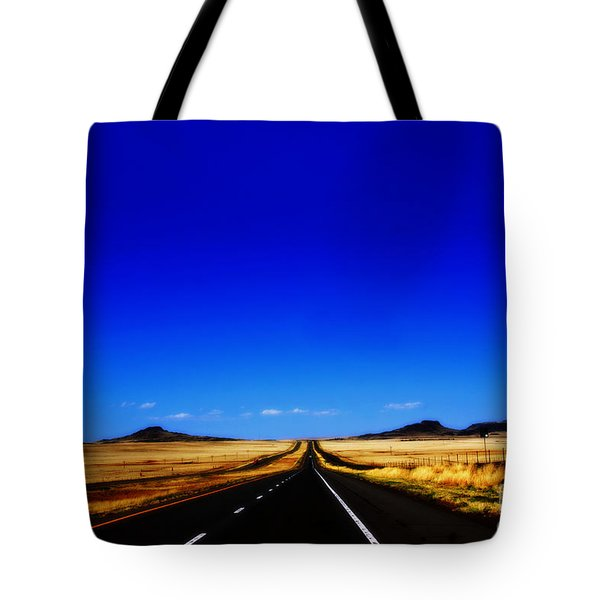 Endless Roads In New Mexico Tote Bag by Susanne Van Hulst