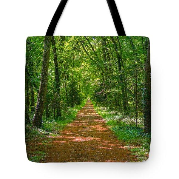Endless Trail Into The Forest Tote Bag by Nila Newsom