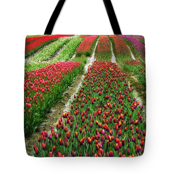 Endless Waves Of Tulips Tote Bag