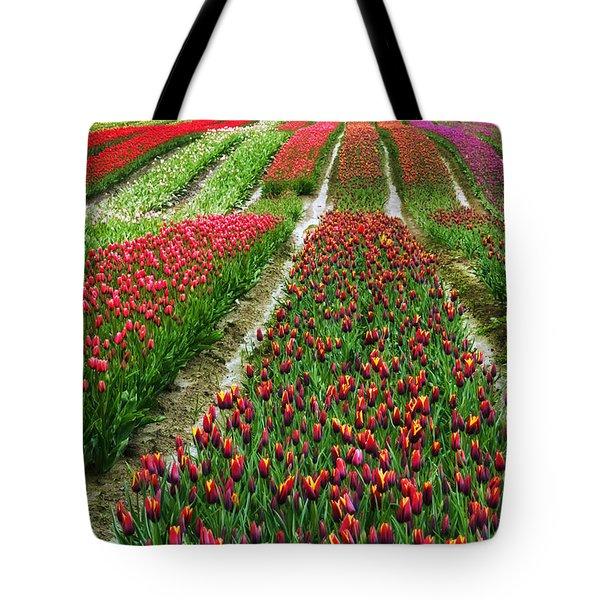 Endless Waves Of Tulips Tote Bag by Eti Reid