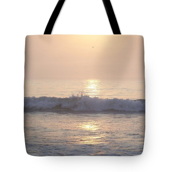 Hampton Beach Wave Ends With A Splash Tote Bag by Eunice Miller