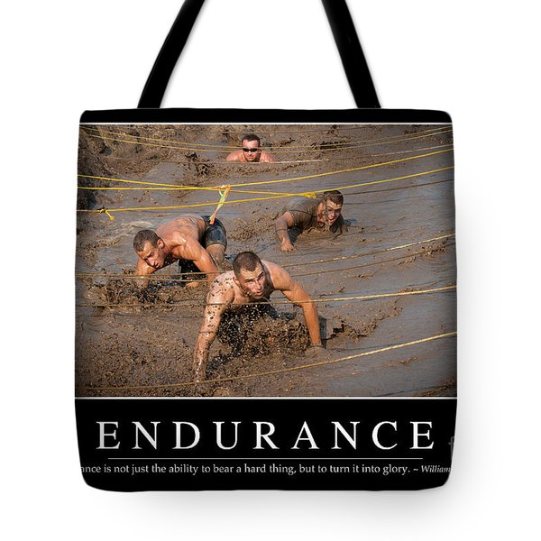 Endurance Inspirational Quote Tote Bag by Stocktrek Images