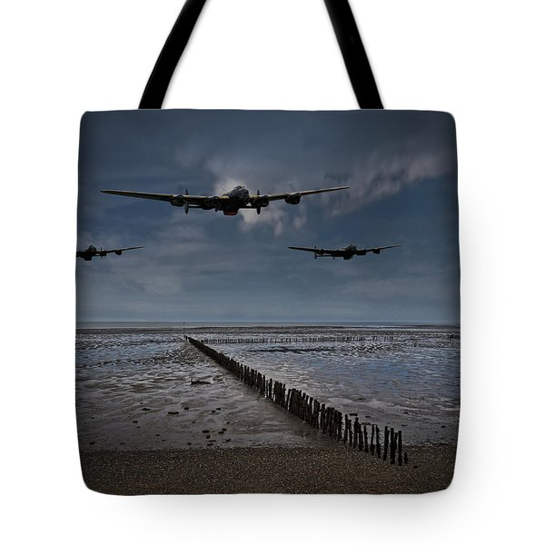 Enemy Coast Ahead Skipper Tote Bag by Gary Eason