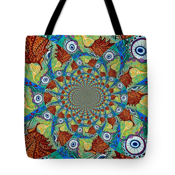 Energy Sprite Kaleidosope Tote Bag by Genevieve Esson