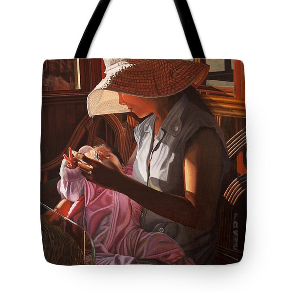 Tote Bag featuring the painting Enfamil At Ha Long Bay Vietnam by Thu Nguyen
