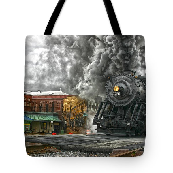 Engine 734 On The Western Maryland Scenic Railroad  Tote Bag