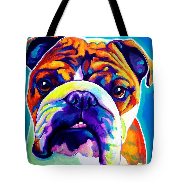Bulldog - Bond -square Tote Bag
