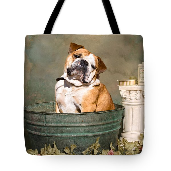English Bulldog Portrait Tote Bag by James BO  Insogna