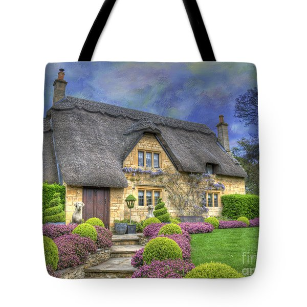 English Country Cottage Tote Bag by Juli Scalzi