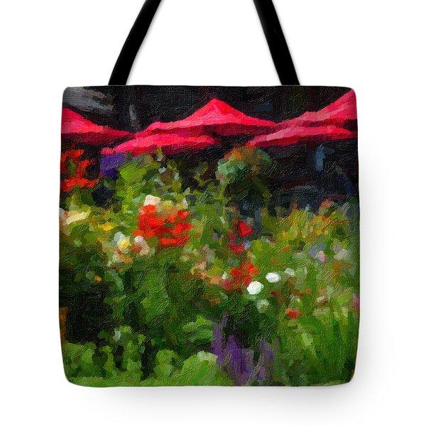 English Country Garden Tote Bag by Richard Farrington
