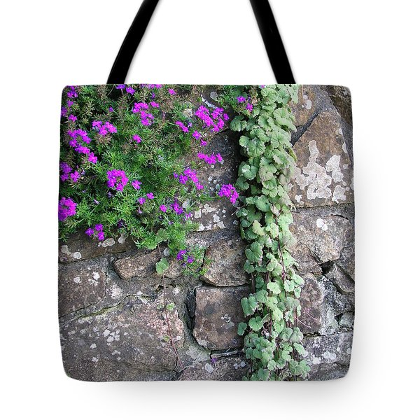 English Garden Wall Tote Bag by Bev Conover