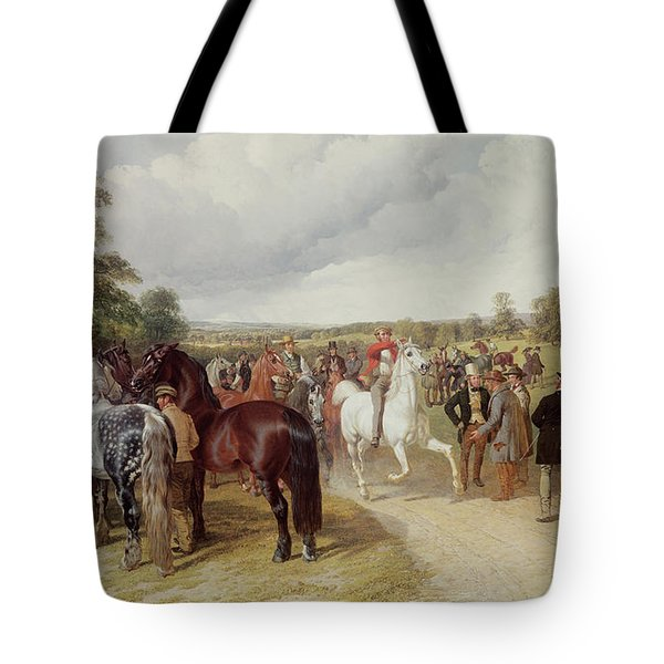 English Horse Fair On Southborough Common Tote Bag by John Frederick Herring Snr