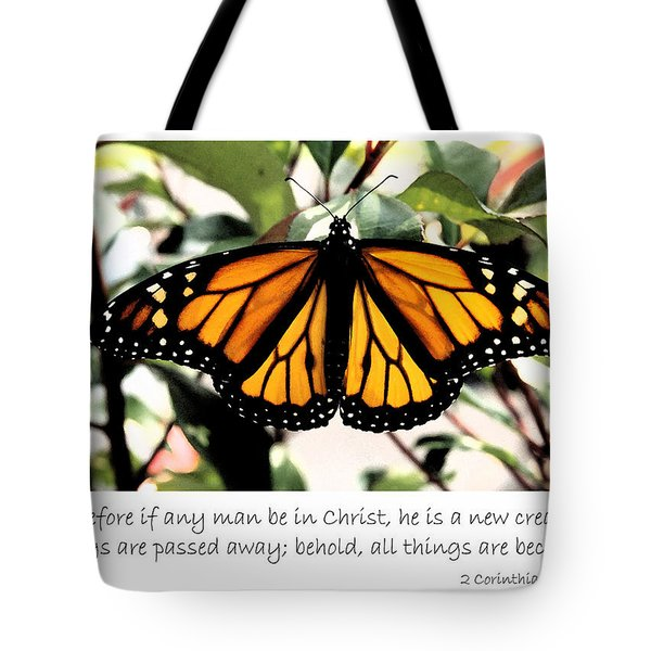 English New Creature In Christ Tote Bag