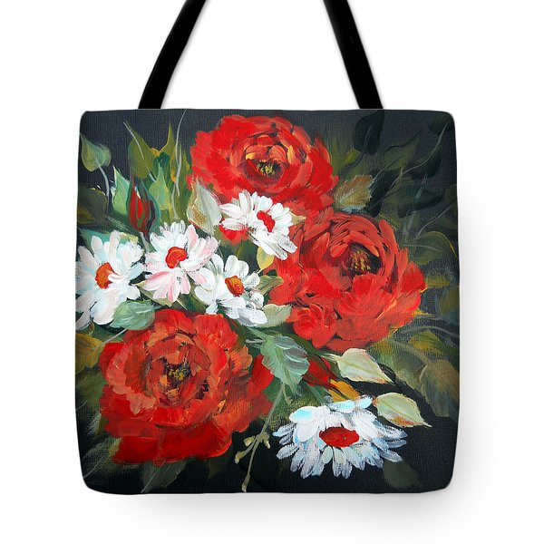 Tote Bag featuring the painting English Roses by Dorothy Maier