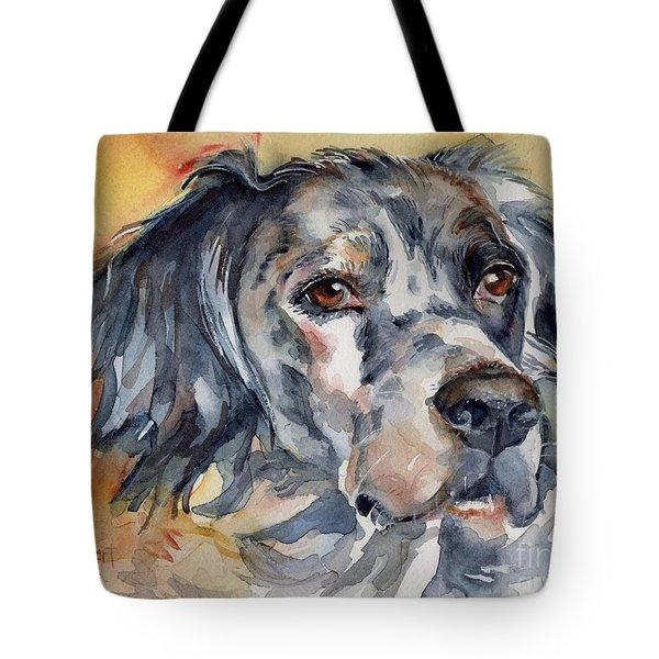 English Setter Portrait Tote Bag