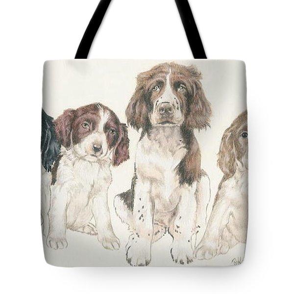 English Springer Spaniel Puppies Tote Bag