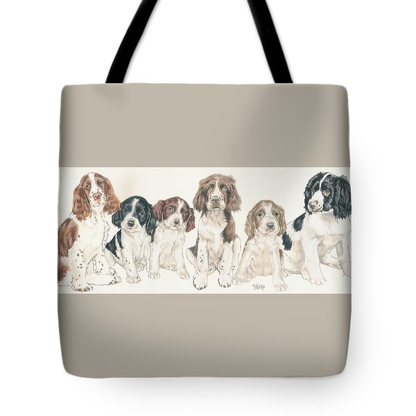 English Springer Spaniel Puppies Tote Bag