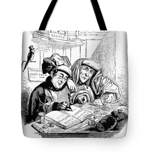 English Tax Cartoon, 1843 Tote Bag