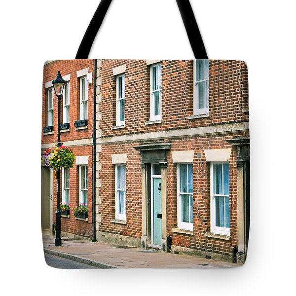 English Town Houses Tote Bag by Tom Gowanlock