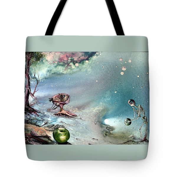 Tote Bag featuring the painting Enigma by Mikhail Savchenko