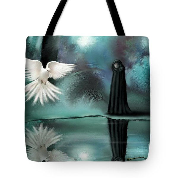 Tote Bag featuring the painting Enigma by S G