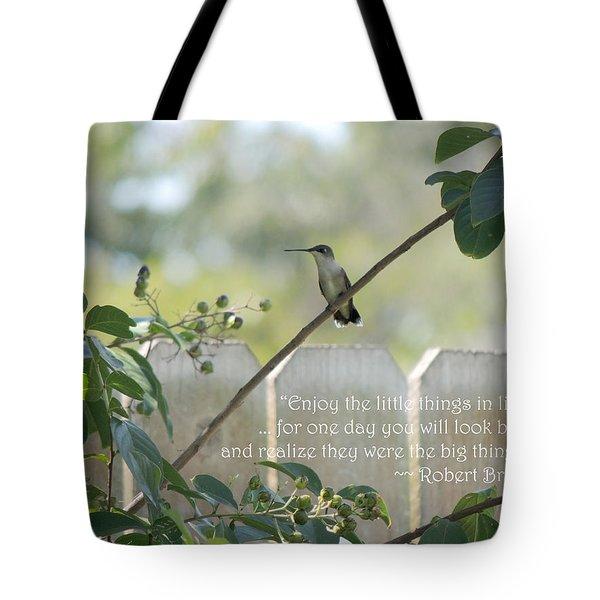 Hummingbird On Crepe Myrtle Tote Bag
