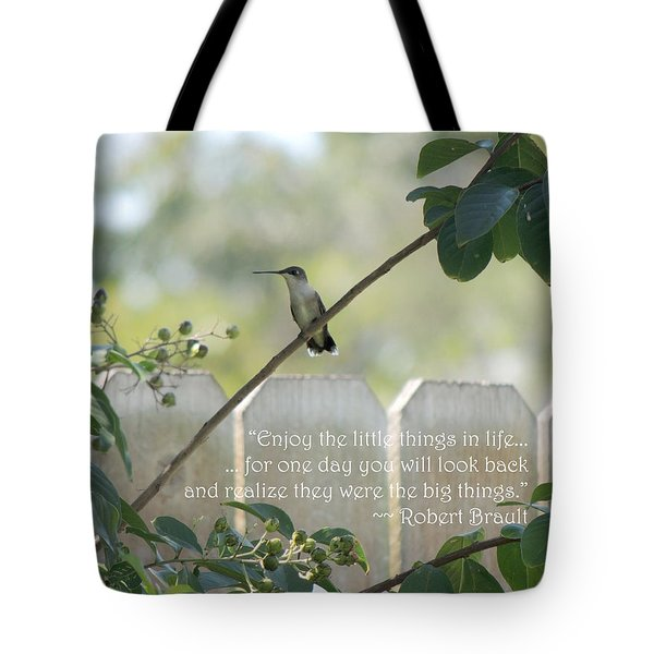 Hummingbird On Crepe Myrtle Tote Bag