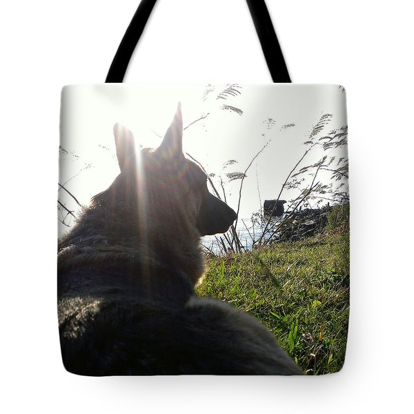 Enjoying The Day Tote Bag by Thomasina Durkay