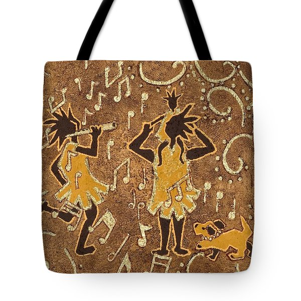 Enjoying The Music Tote Bag by Katherine Young-Beck