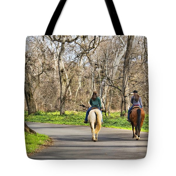 Enjoying The Scenery In Bidwell Park Tote Bag