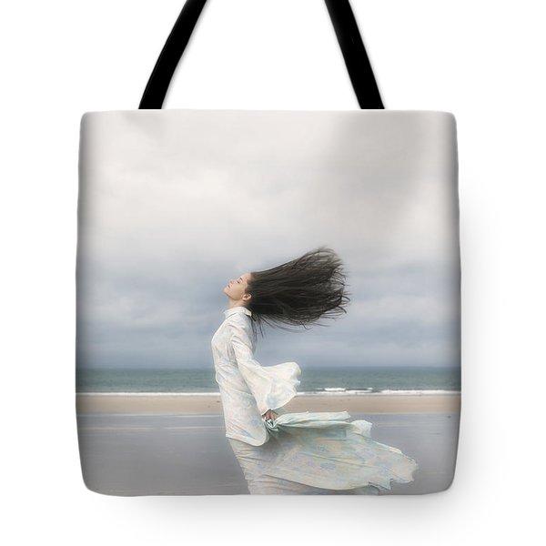 Enjoying The Wind Tote Bag by Joana Kruse