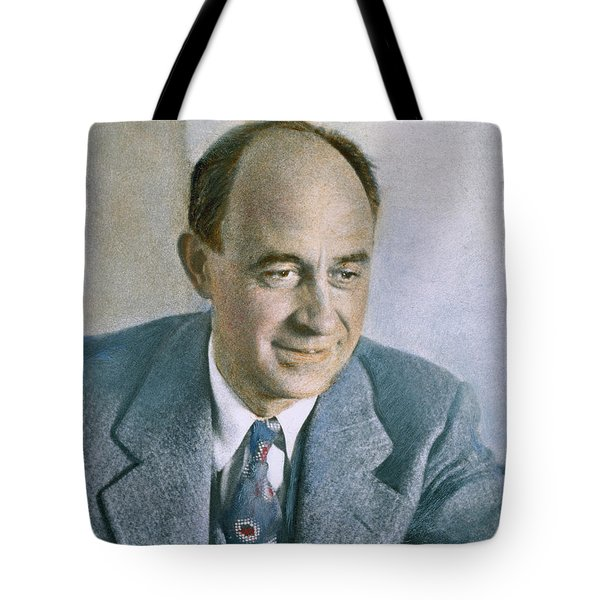 Tote Bag featuring the photograph Enrico Fermi (1901-1954) by Granger