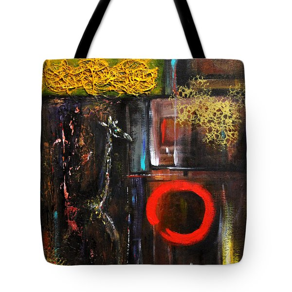 Tote Bag featuring the painting Enso Abstract by Patricia Lintner
